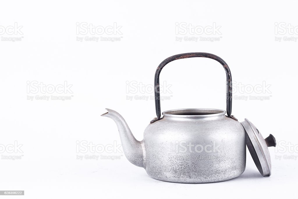 vintage retro Kettle for   drink  water boiler stock photo