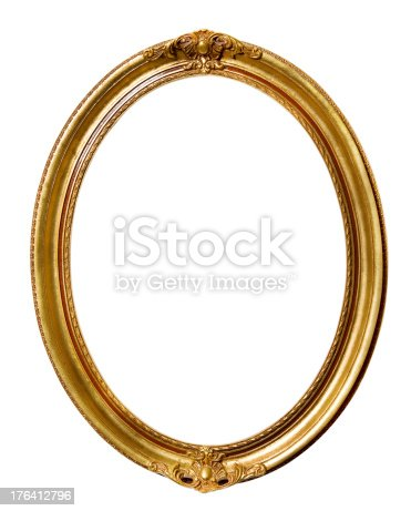 istock Vintage Retro Old Picture Frame 176412796