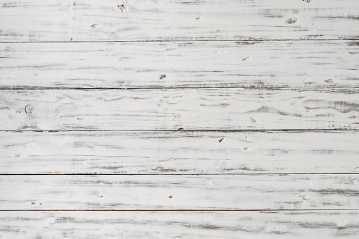Vintage retro rustic white wood background backdrop with old pattern and texture for food and product photography