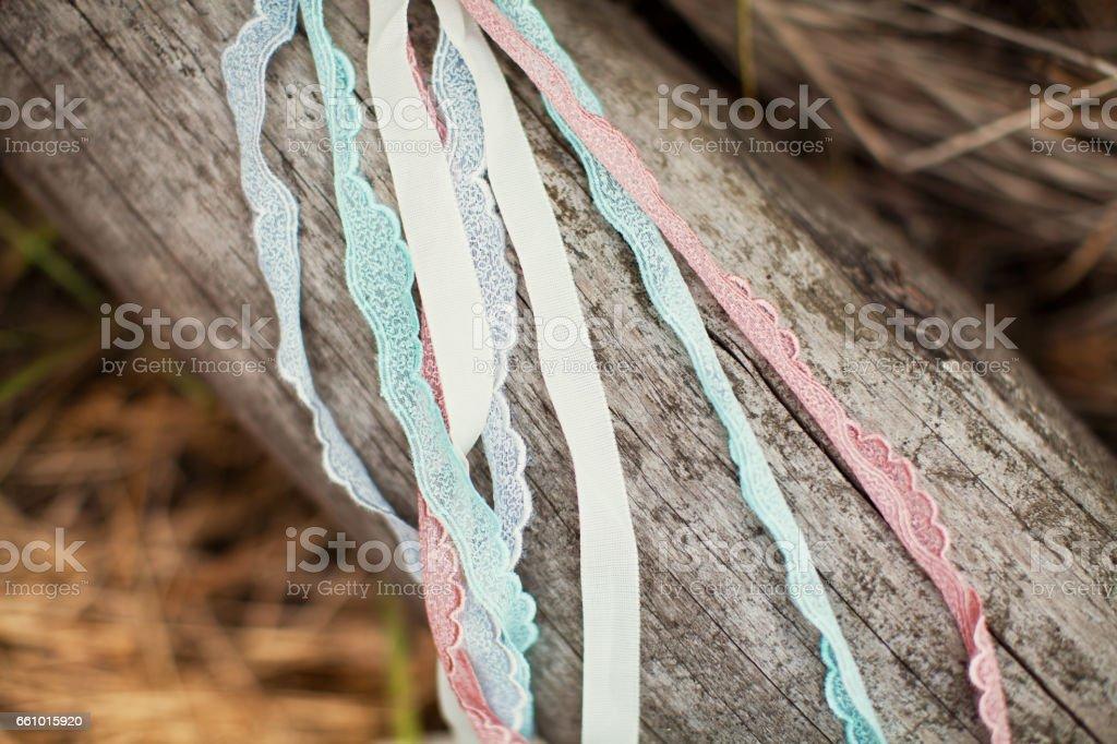 vintage ribbons stock photo