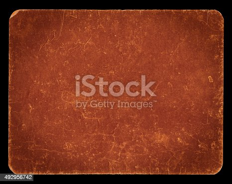 istock Vintage rich textured banner isolated on black with clipping path 492956742