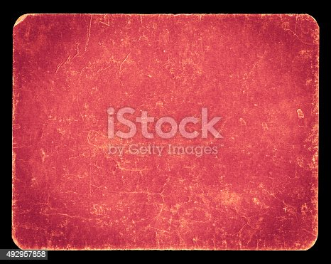 istock Vintage rich textured banner isolated on black with clipping path 492957858