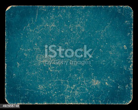 istock Vintage rich textured banner isolated on black with clipping path 492958748