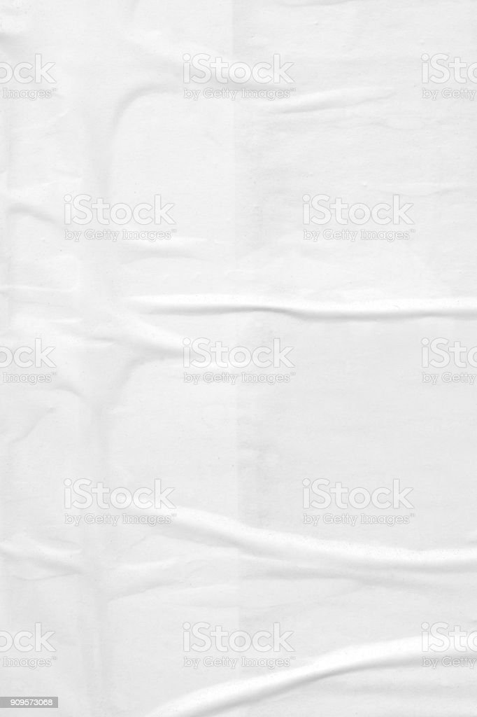 Vintage ripped torn creased crumpled paper background surface/ Old posters grunge textures collage background stock photo