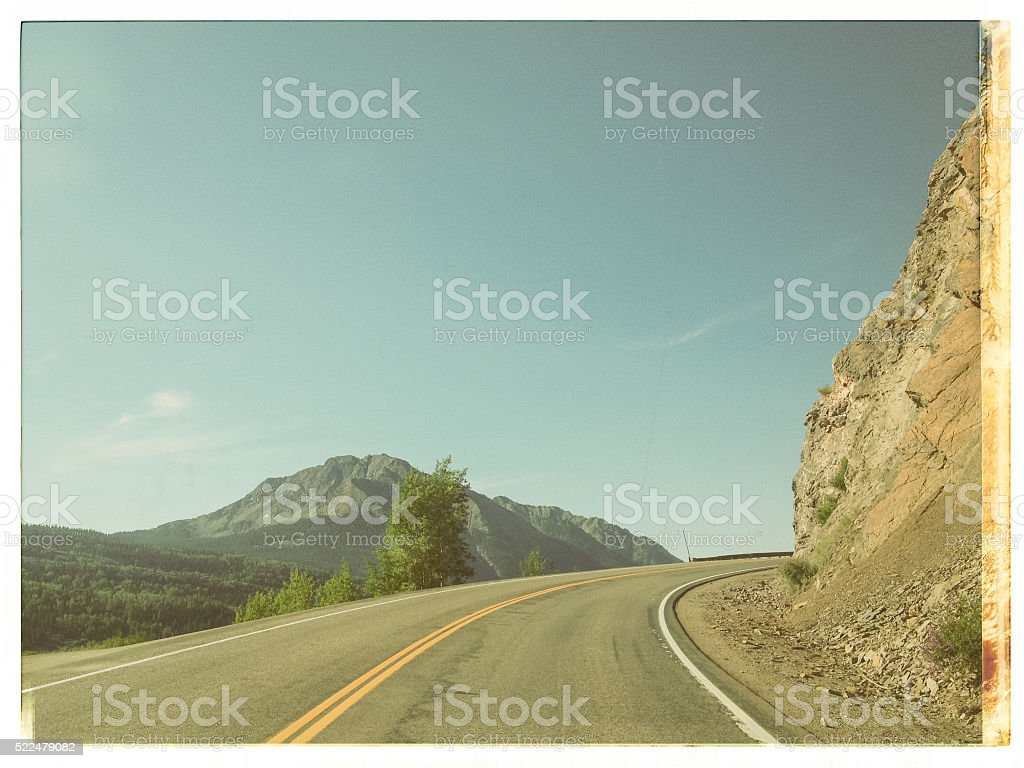 vintage road trip stock photo