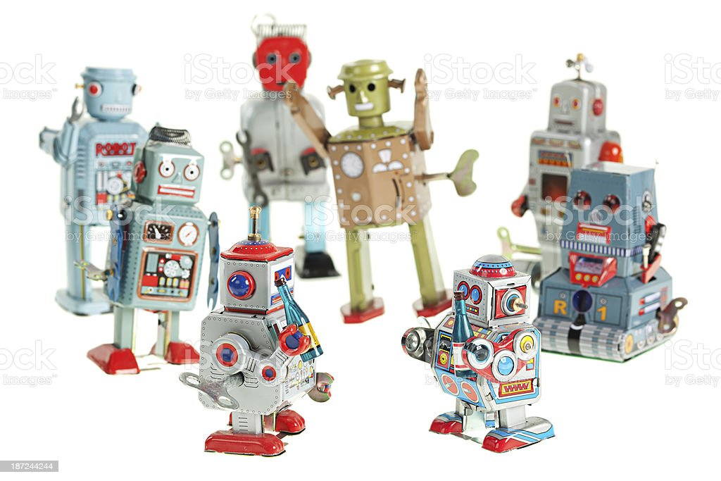 Vintage robot party royalty-free stock photo