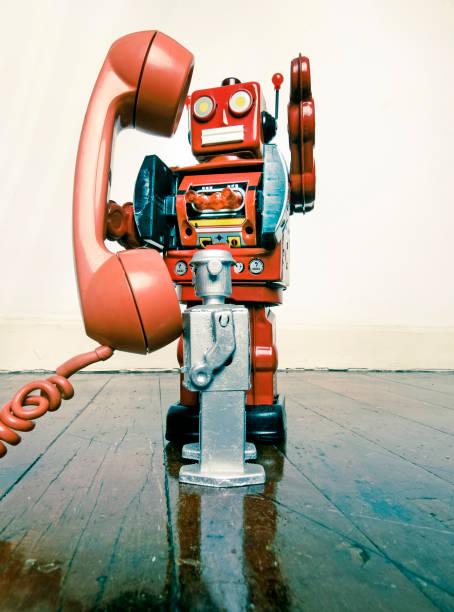 vintage roboter telefon - converse taylor stock-fotos und bilder