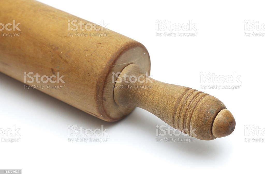 Vintage Rolling Pin Detail stock photo