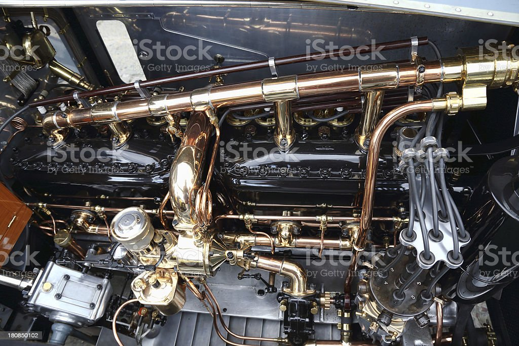 Vintage Rolls Royce engine royalty-free stock photo