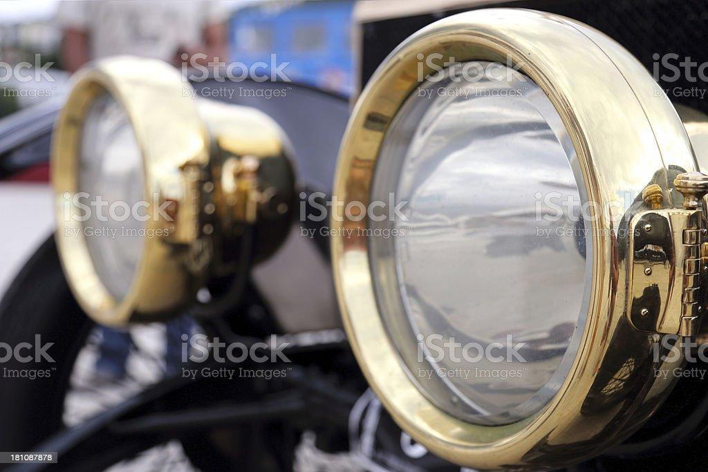 Vintage Rolls Royce headlights royalty-free stock photo