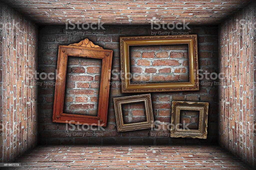 Vintagehintergrund Mit Alten Bilderrahmen Stock-Fotografie und mehr ...