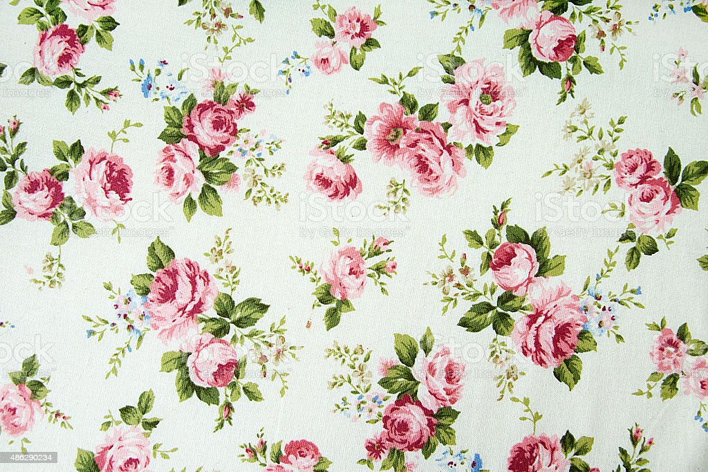 vintage rose pattern on Fabric background. stock photo