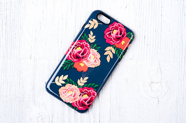 Vintage rose pattern protective case for smart phone stock photo