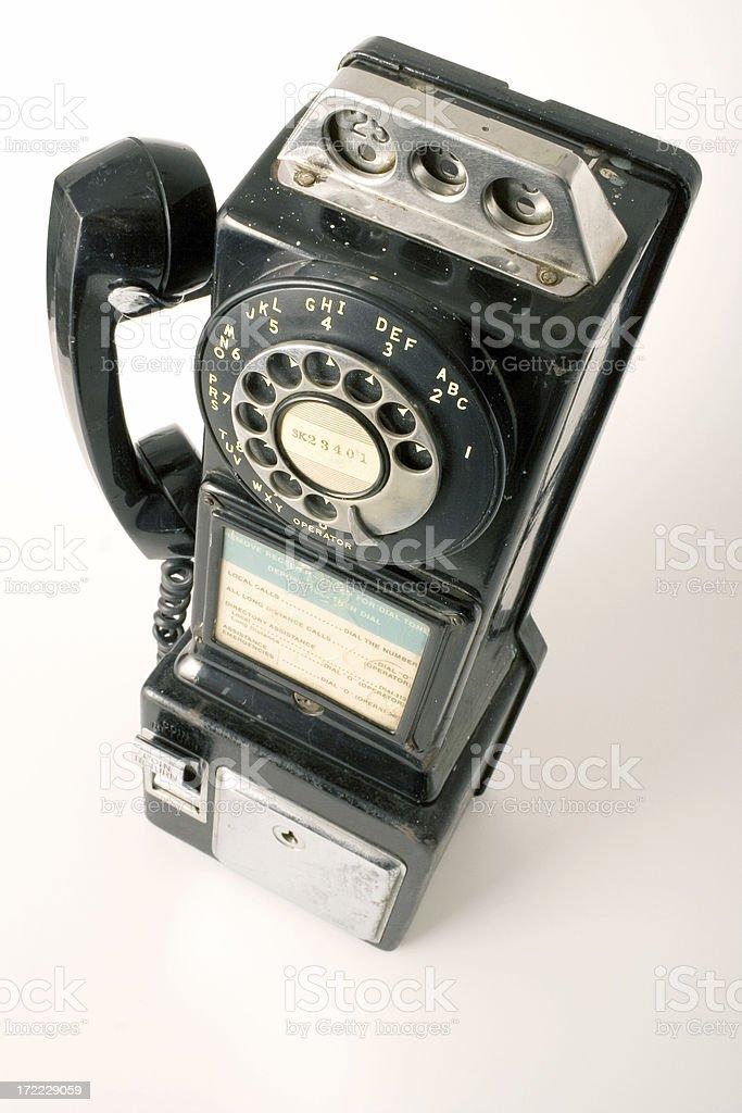 Vintage Rotary Pay Phone royalty-free stock photo