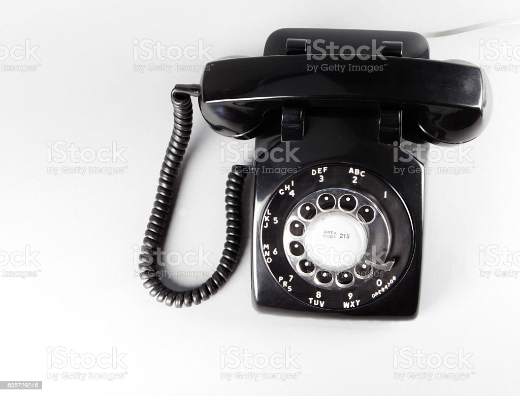 Vintage Rotary Telephone stock photo