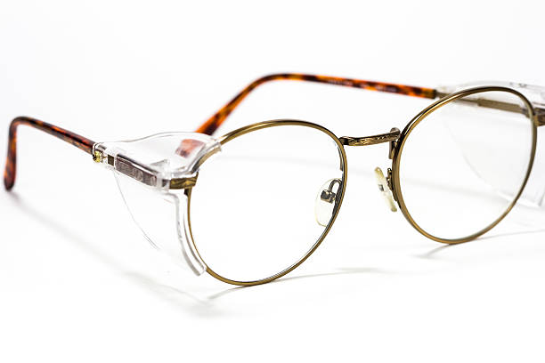 Vintage round eyeglasses isolated on white stock photo