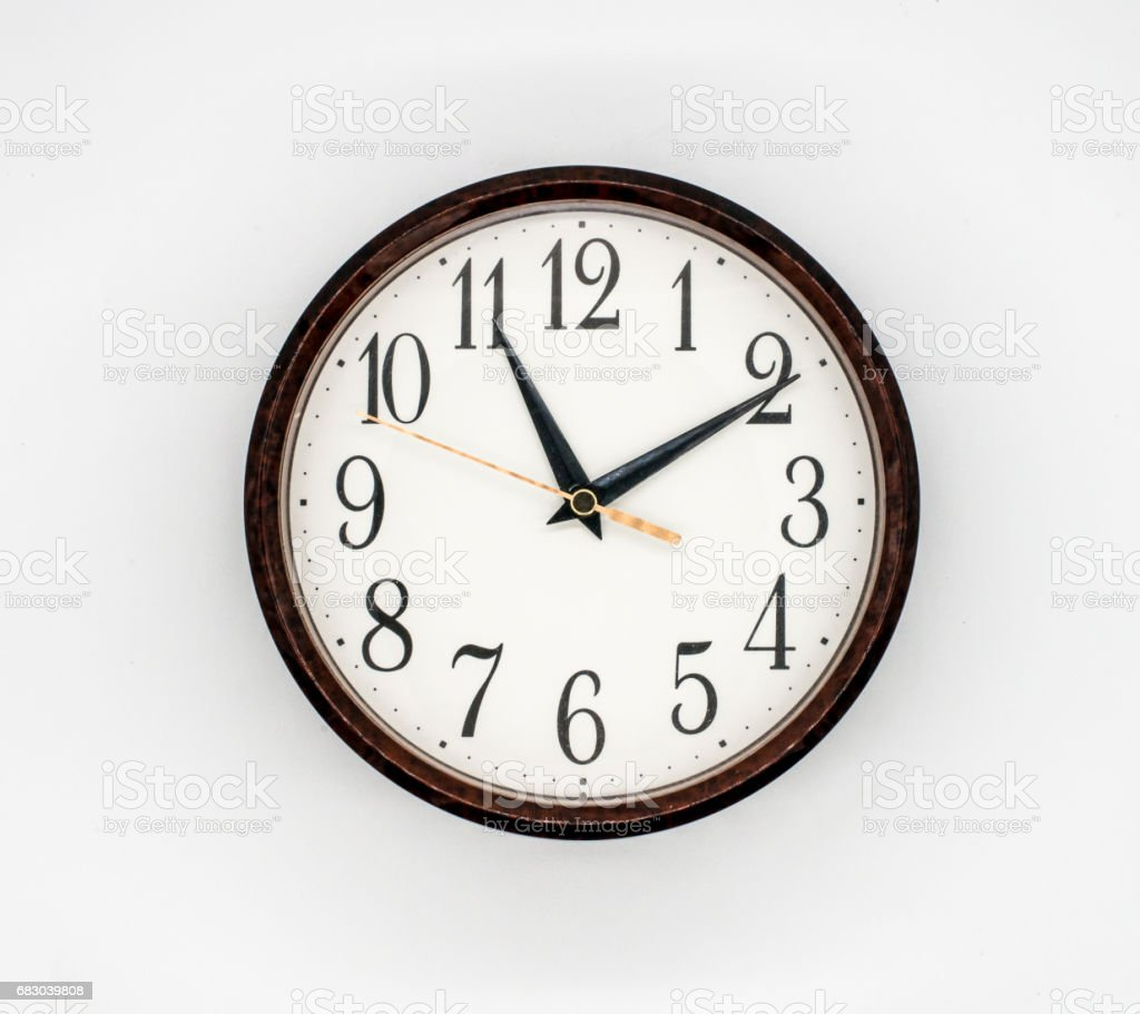 vintage round wall clock white face foto de stock royalty-free