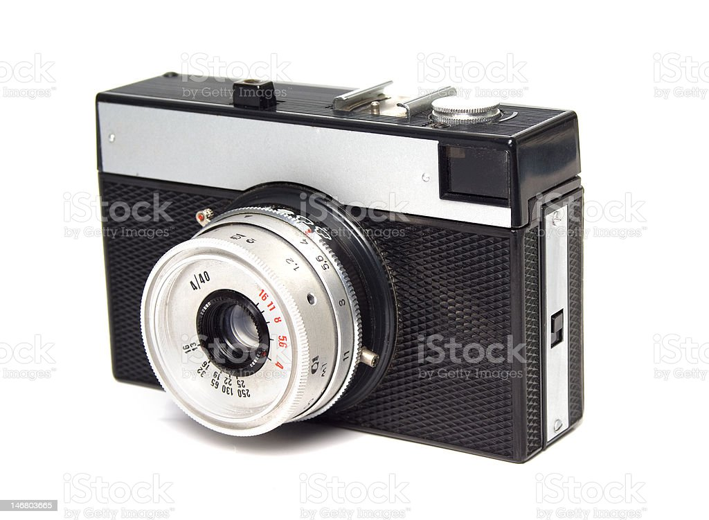 Vintage russian camera stock photo