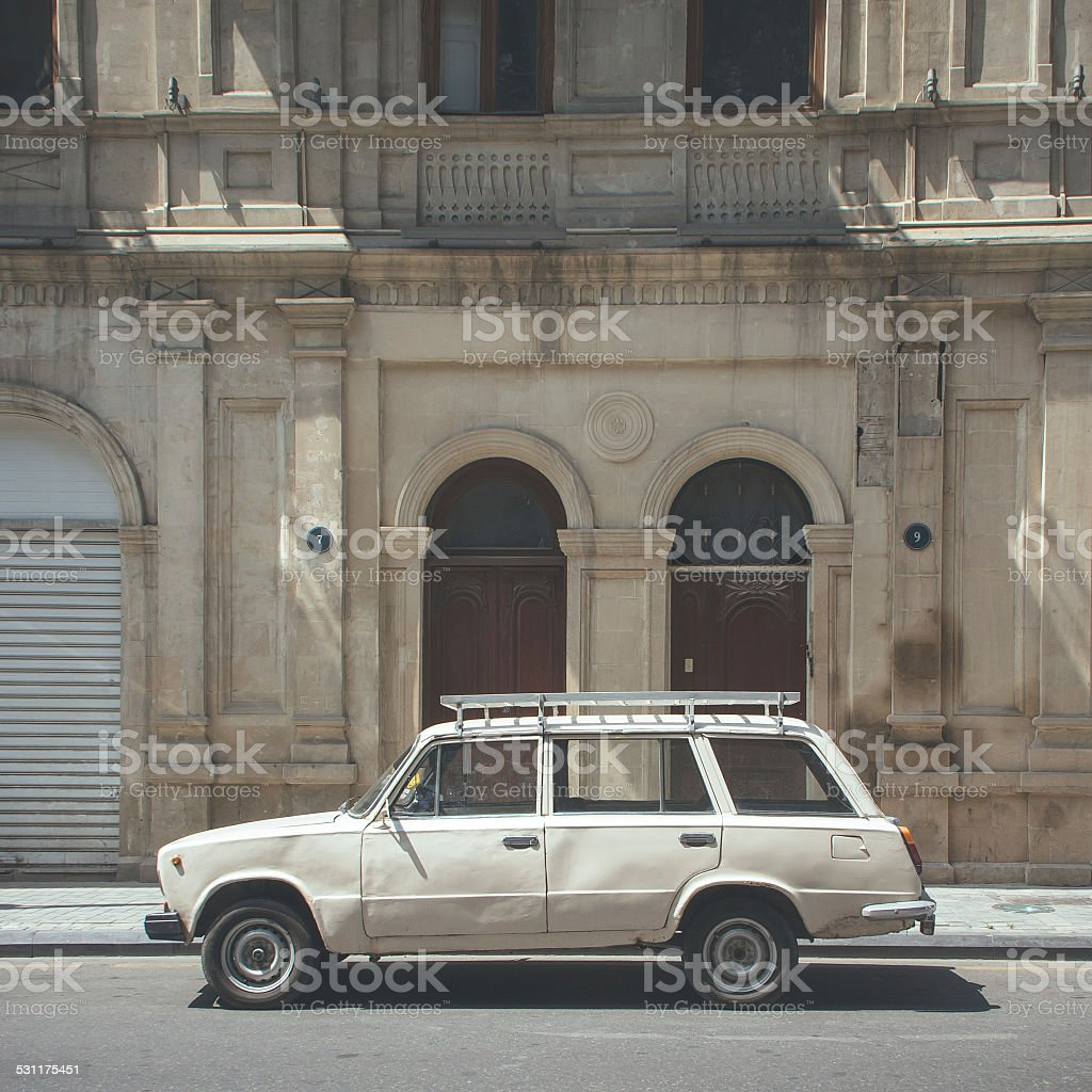 Vintage Russian Car stock photo