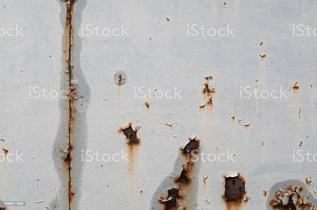 Vintage rusted texture grunge painted on grey wall. stock photo