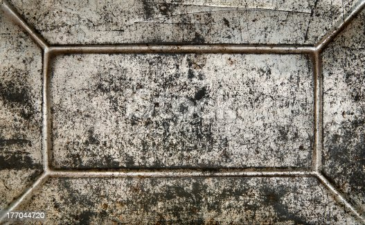 1058533662 istock photo Vintage rusty grunge blank metal plate. 177044720