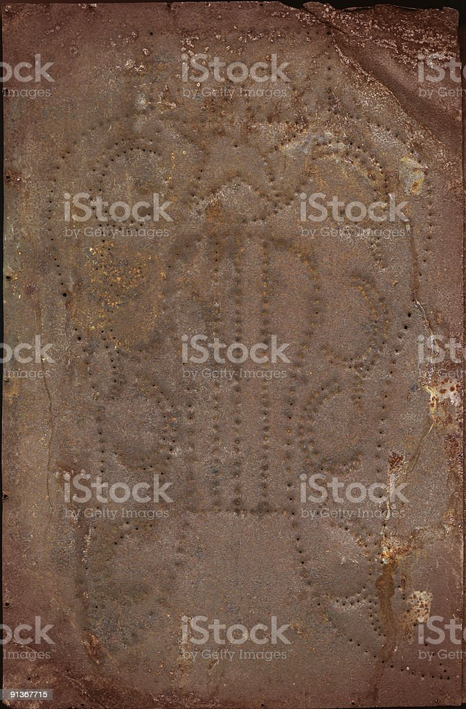 Vintage Rusty Metal royalty-free stock photo