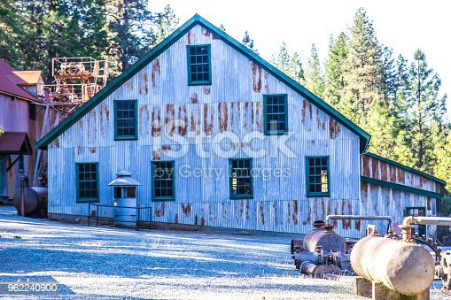 Vintage Rusty Tin Building Once Used In Mining Operations