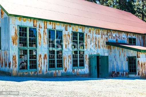 Vintage Rusty Tin Sided Building Once Used In Mining Operations