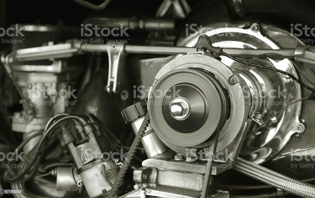 vintage RV engine stock photo