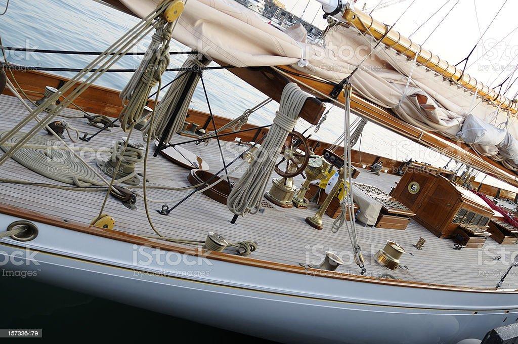 Vintage Sailboat stock photo