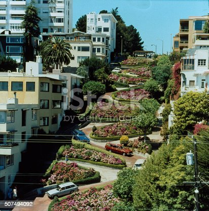 San Francisco's Lombard Street from 35mm slide