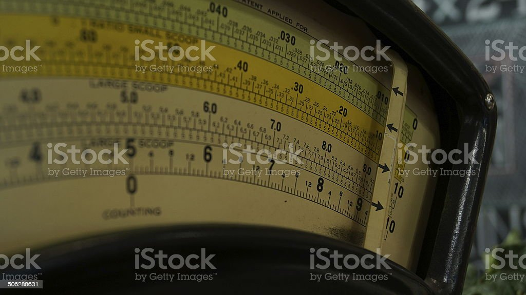 Vintage scale face stock photo