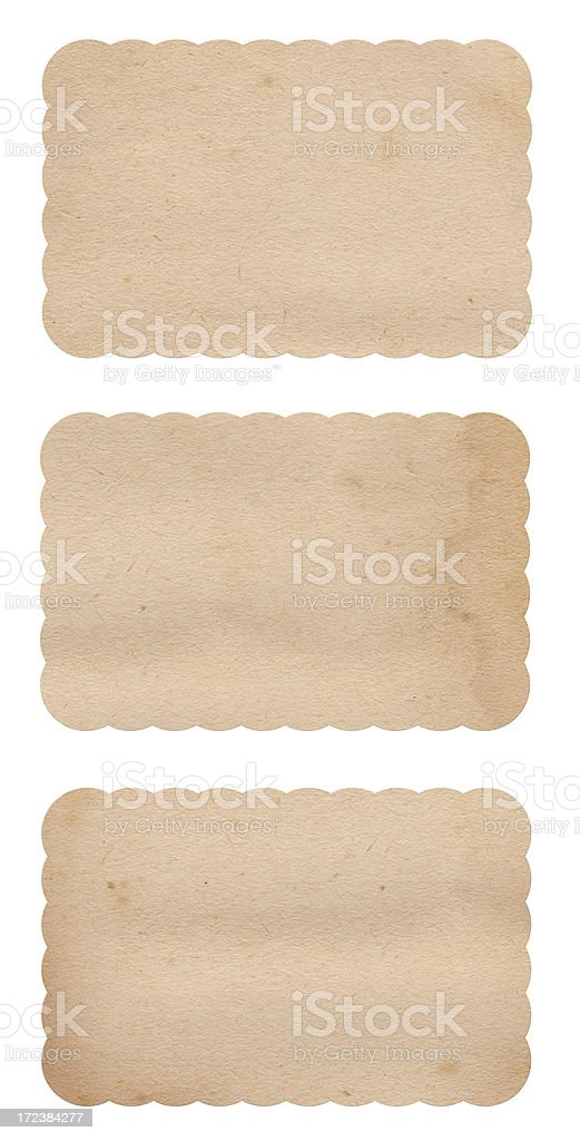 Vintage Scalloped Labels stock photo