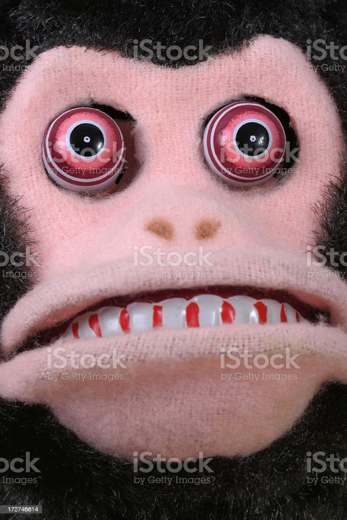 1950\'s macro of a Vintage scary monkey face.