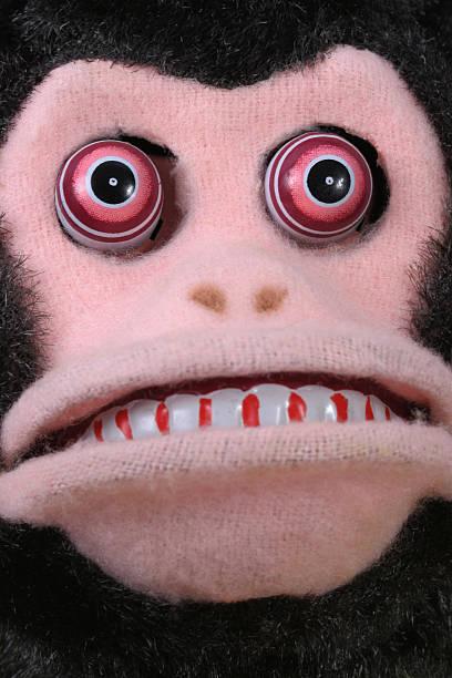 Vintage Scary Monkey Face Stock Photo