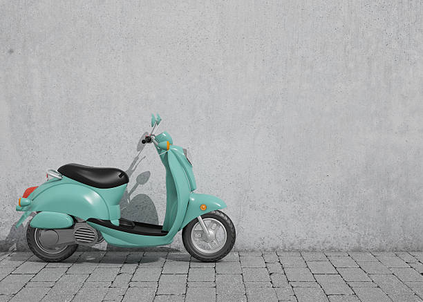 scooter vintage, fondo - vintage vespa fotografías e imágenes de stock