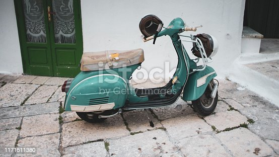 City transportation - vintage scooter