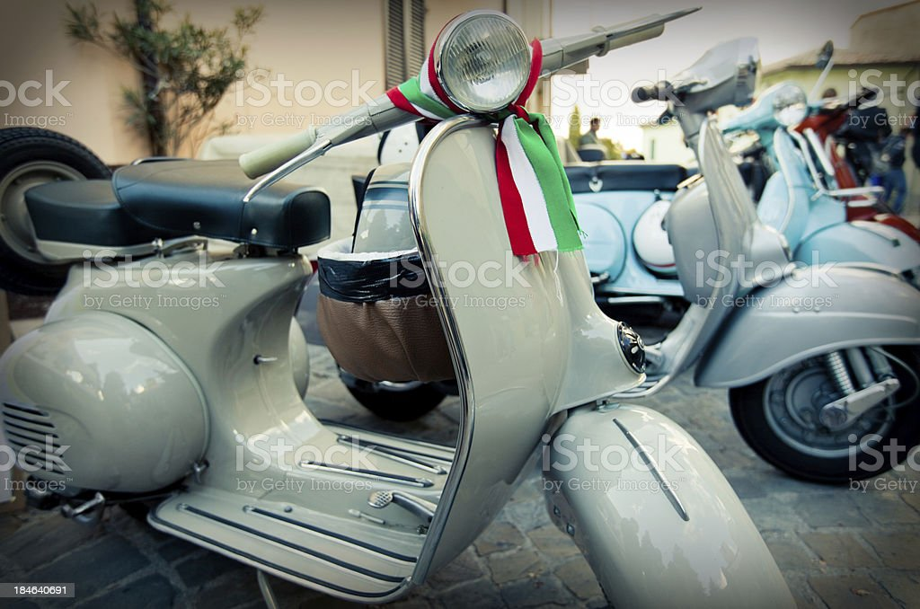Vintage scooters royalty-free stock photo