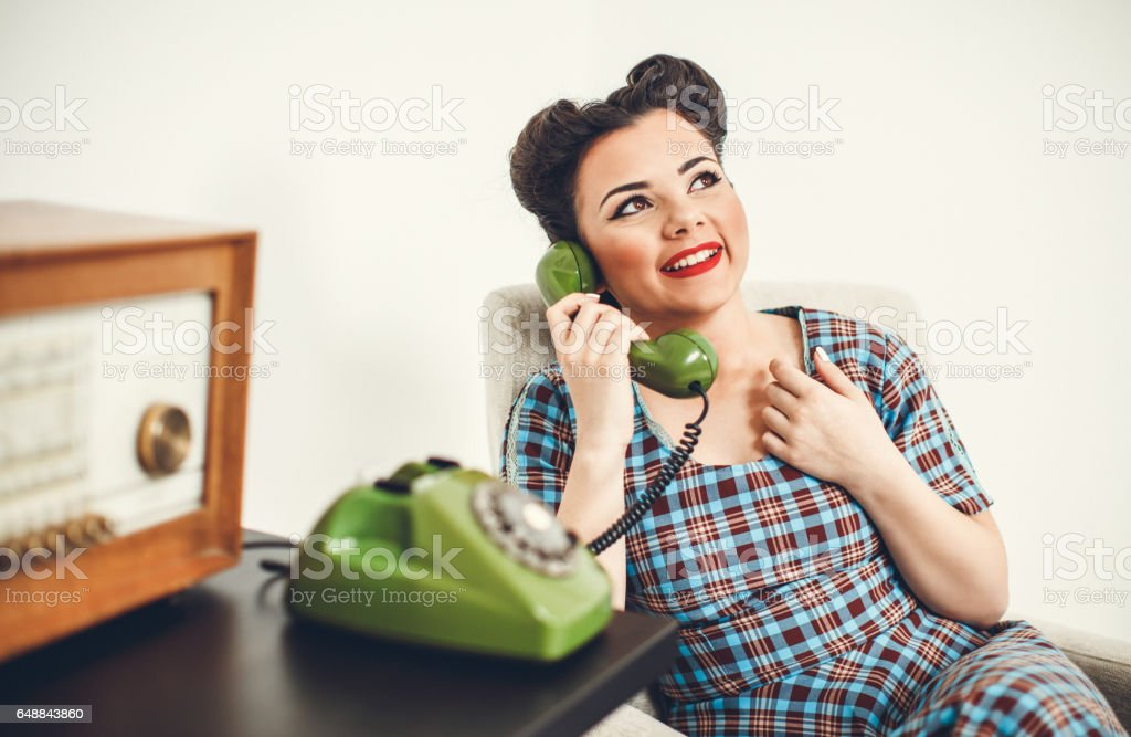 Vintage Sekretärin am Telefon – Foto