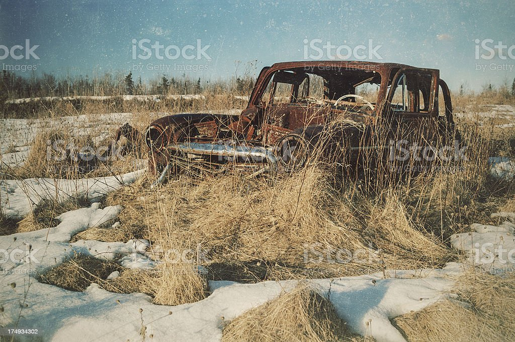Vintage Sedan royalty-free stock photo