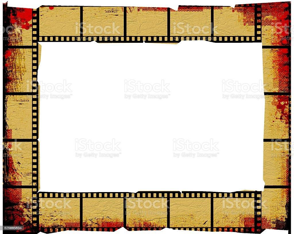 Vintage Sepia Und Rot Filmstreifen Rahmen Hintergrund Stock ...
