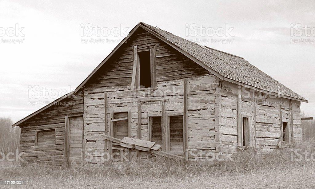 Vintage Sepia Barn stock photo