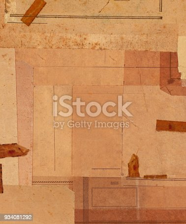 istock Vintage sepia papers background 934081292