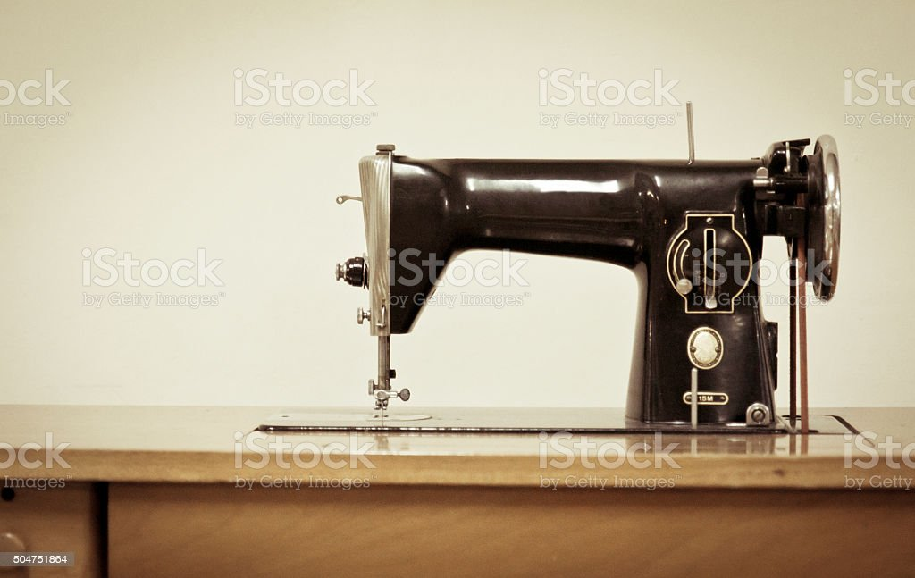 macchina da cucire vintage stock photo