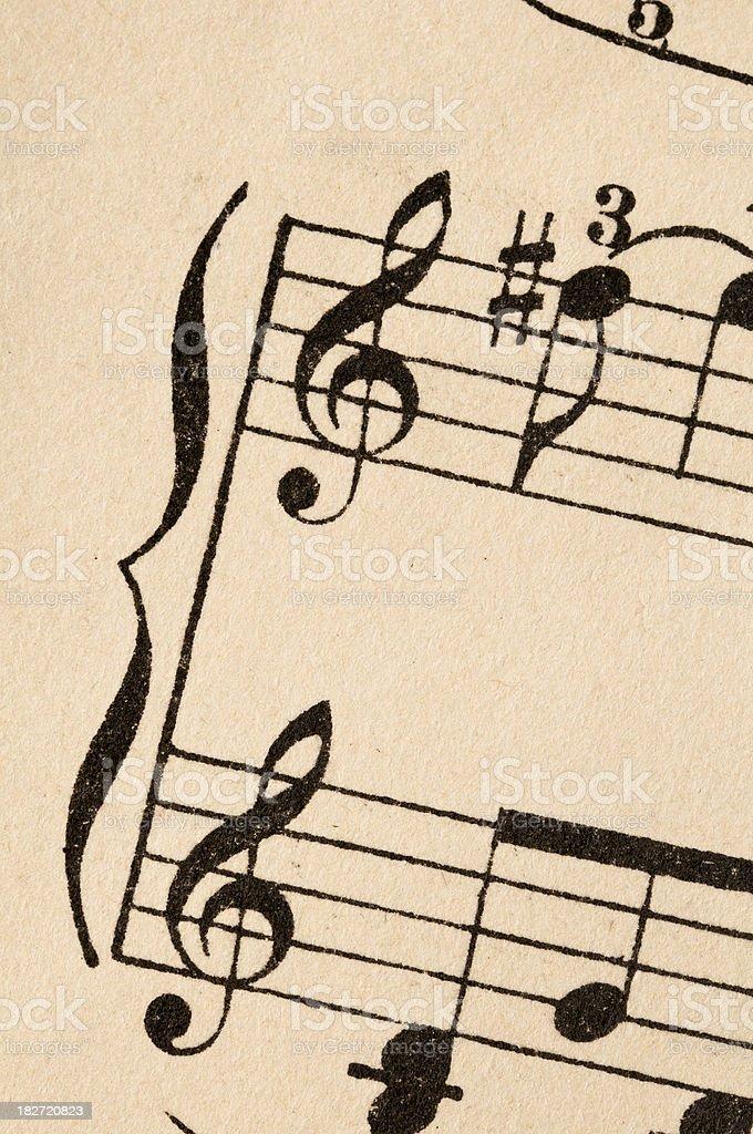 Vintage sheet music (detail) royalty-free stock photo