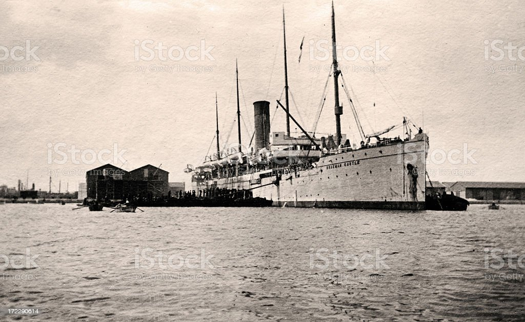 Vintage ship royalty-free stock photo