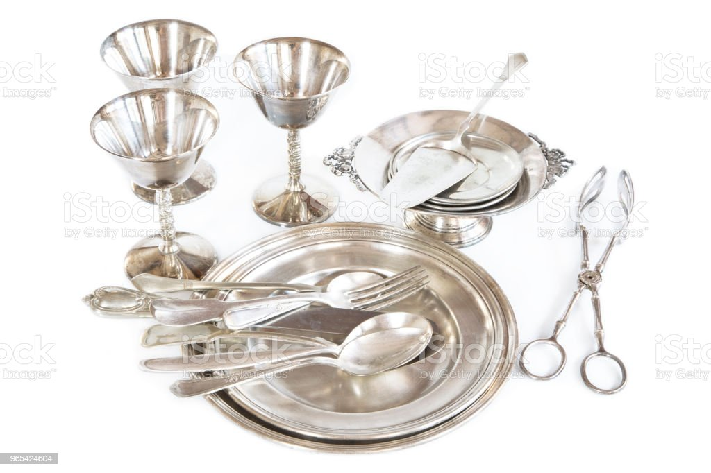 Vintage silverware zbiór zdjęć royalty-free