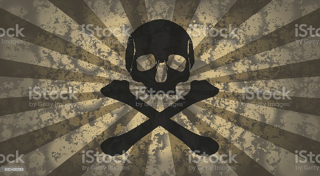 vintage skull pattern stock photo