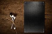 Vintage slate chalkboard template menu