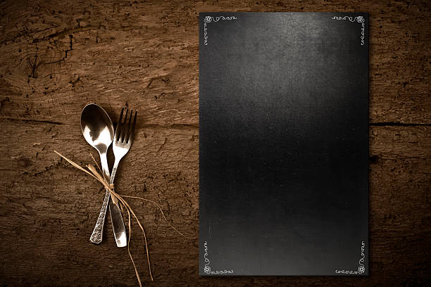 Vintage slate chalkboard template menu - Photo
